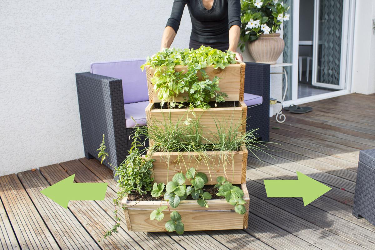 Bac jardinage balcon fashion designs for Boutique jardin